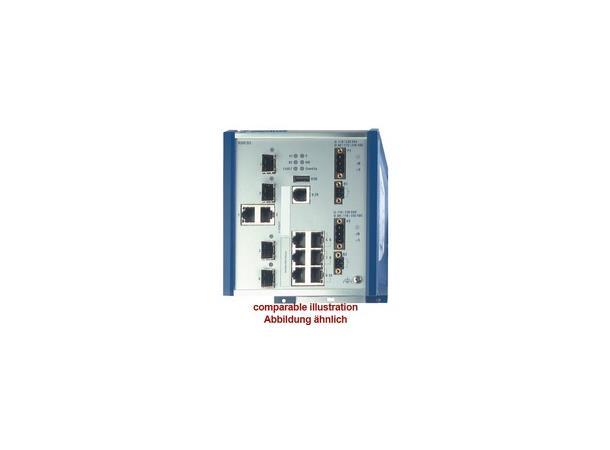 Hirschmann OpenRail RSR20, 8x FE 0-60°C, 24-48VDC, Professional